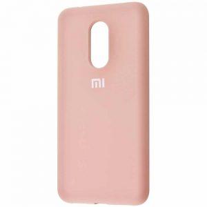 Оригинальный чехол Silicone Cover 360 с микрофиброй для Xiaomi Redmi 5 Plus – Pink sand
