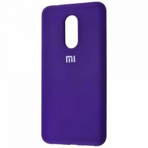 Оригинальный чехол Silicone Cover 360 с микрофиброй для Xiaomi Redmi 5 Plus – Purple
