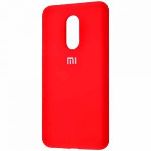 Оригинальный чехол Silicone Cover 360 с микрофиброй для Xiaomi Redmi 5 Plus – Red