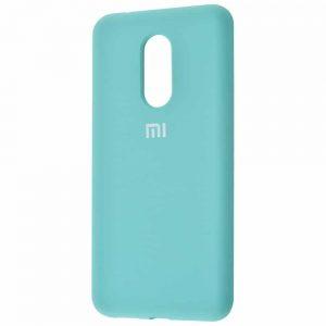Оригинальный чехол Silicone Cover 360 с микрофиброй для Xiaomi Redmi 5 Plus – Turquoise