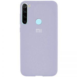 Оригинальный чехол Silicone Cover 360 с микрофиброй для Xiaomi Redmi Note 8T – Голубой / Mist blue