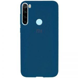 Оригинальный чехол Silicone Cover 360 с микрофиброй для Xiaomi Redmi Note 8T – Синий / Cobalt