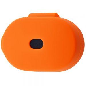Чехол для наушников Silicone Case + карабин для Xiaomi AirDots – Orange