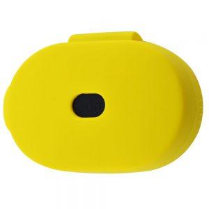Чехол для наушников Silicone Case + карабин для Xiaomi AirDots – Yellow