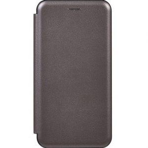 Кожаный чехол-книжка 360 с визитницей для Samsung Galaxy M30s (M307F) – Gray
