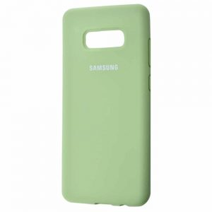 Оригинальный чехол Silicone Cover 360 с микрофиброй для Samsung S10e (G970) – Mint gum