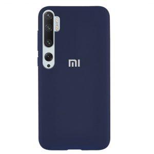 Оригинальный чехол Silicone Cover 360 с микрофиброй для Xiaomi Mi Note 10 / Mi Note 10 Pro – Синий / Navy Blue