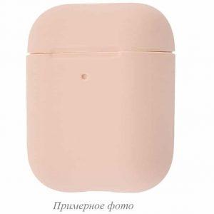 Чехол для наушников Silicone Case New + карабин для Apple Airpods 1/2 – Pink sand