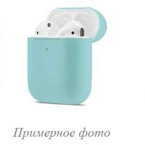 Чехол для наушников Silicone Case New + карабин для Apple Airpods 1/2 – Sky blue