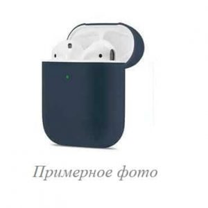 Чехол для наушников Silicone Case New + карабин для Apple Airpods 1/2 – Midnight blue