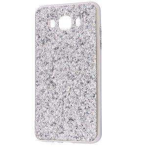 Чехол Shining Corners With Sparkles для Samsung Galaxy J7/J7 Neo – Silver