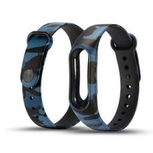 Ремешок для фитнес-браслета Xiaomi Mi Band 3 / 4 – Camouflage Black / Blue