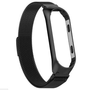 Ремешок Milanese Loop для фитнес-браслета Xiaomi Mi Band 3 / 4 – Black