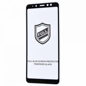 Защитное стекло 3D (5D) Perfect Glass Full Glue на весь экран для Samsung Galaxy A8 Plus (A730) — Black