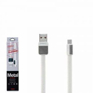 Кабель REMAX Metal RC-044m USB to MicroUSB 2.1А (1м) – White