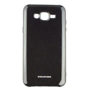 Глянцевый силиконовый чехол Molan Shining для Samsung Galaxy J7 / J7 Neo – Черный