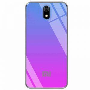 TPU+Glass чехол Gradient Rainbow с лого для Xiaomi Redmi 8A – Синий