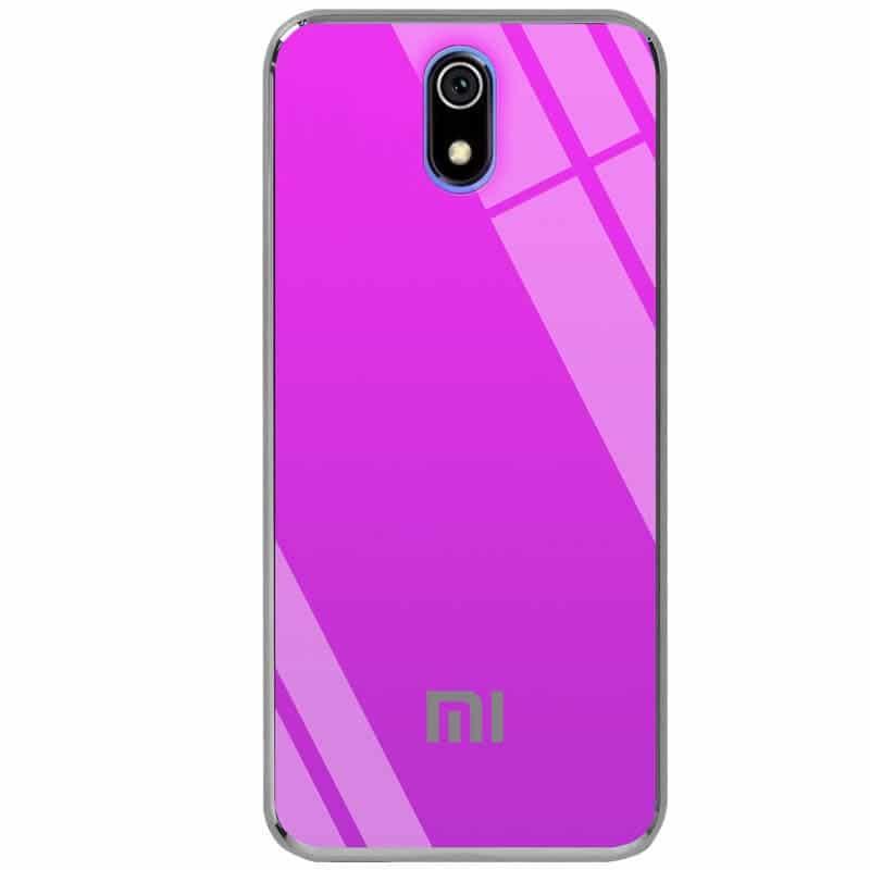 TPU+Glass чехол Gradient Rainbow с лого для Xiaomi Redmi 8A – Фиолетовый