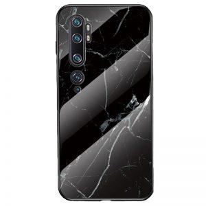 TPU+Glass чехол Luxury Marble с мраморным узором для Xiaomi Mi Note 10 / Mi Note 10 Pro – Черный