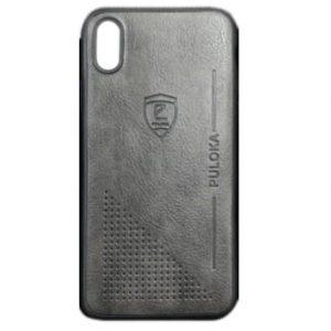 Кожаный чехол-накладка PULOKA Desi для Xiaomi Redmi Note 7 / 7 Pro – Черный