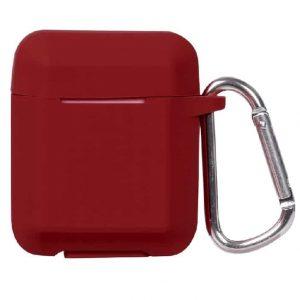 Чехол для наушников Plain Ling Angle Case для Apple Airpods – Wine Red