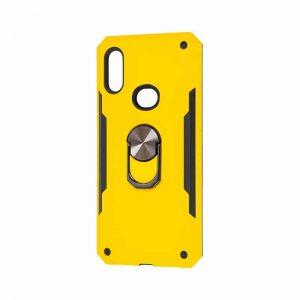 Ударопрочный чехол SG Ring Color под магнитный держатель с кольцом для Samsung Galaxy A10s 2019 (A107) — Желтый