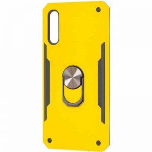 Ударопрочный чехол SG Ring Color под магнитный держатель с кольцом для Samsung Galaxy A50 2019 (A505) / A50s 2019 (A507) / A30s 2019 (A307) — Желтый