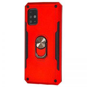Ударопрочный чехол SG Ring Color под магнитный держатель с кольцом для Samsung Galaxy A51- Красный