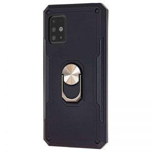 Ударопрочный чехол SG Ring Color под магнитный держатель с кольцом для Samsung Galaxy A51- Черный