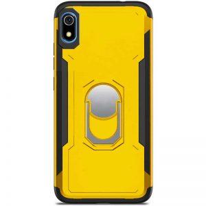 Ударопрочный чехол SG Ring Color под магнитный держатель с кольцом для Xiaomi Redmi 7A — Желтый