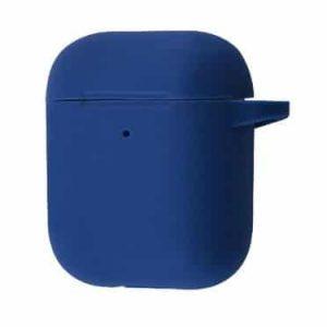 Чехол для наушников Silicone Case New + карабин для Apple Airpods 1/2 – Blue cobalt