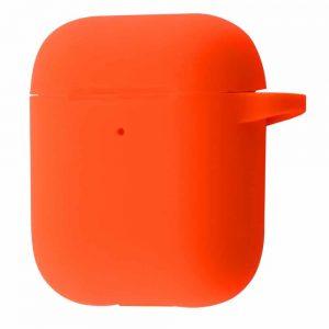 Чехол для наушников Silicone Case New + карабин для Apple Airpods 1/2 – Orange