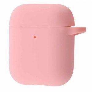 Чехол для наушников Silicone Case New + карабин для Apple Airpods 1/2 – Pink
