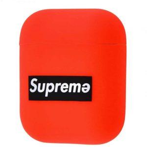 Чехол для наушников Silicone Case Ultra Slim Supreme для Apple Airpods – Red