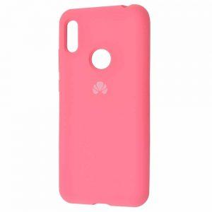 Оригинальный чехол Silicone Cover 360 с микрофиброй для Huawei Y6 2019 / Honor 8A – Light pink