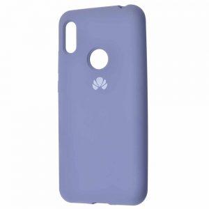 Оригинальный чехол Silicone Cover 360 с микрофиброй для Huawei Y6 2019 / Honor 8A – Lavender gray