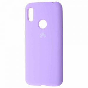 Оригинальный чехол Silicone Cover 360 с микрофиброй для Huawei Y6 2019 / Honor 8A – Light purple