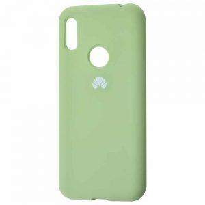 Оригинальный чехол Silicone Cover 360 с микрофиброй для Huawei Y6 2019 / Honor 8A – Mint gum