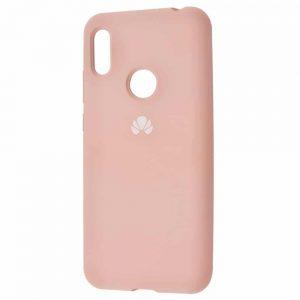 Оригинальный чехол Silicone Cover 360 с микрофиброй для Huawei Y6 2019 / Honor 8A – Pink sand