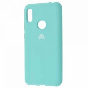 Оригинальный чехол Silicone Cover 360 с микрофиброй для Huawei Y6 2019 / Honor 8A – Turquoise