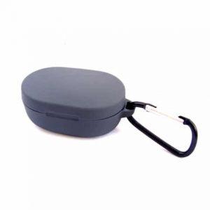 Чехол для наушников Silicone Case + карабин для Xiaomi AirDots – Gray