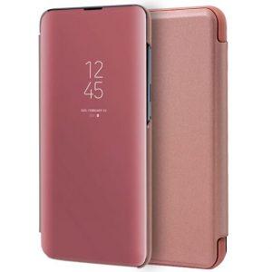 Чехол-книжка Clear View Standing Cover для Xiaomi Mi Note 10 Lite — Rose Gold