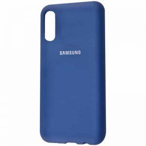 Оригинальный чехол Silicone Cover 360 с микрофиброй для Samsung Galaxy A70 2019 (A705) – Синий / Blue