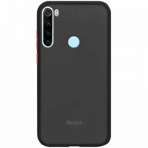 Чехол TPU+PC Soft-touch with Color Buttons для Xiaomi Redmi Note 8 – Черный