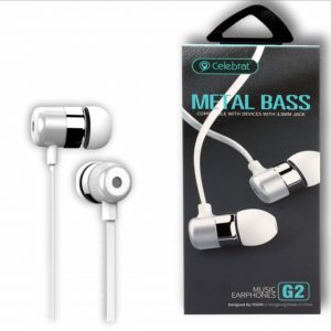 Наушники Celebrat G2 Metal Bass – White