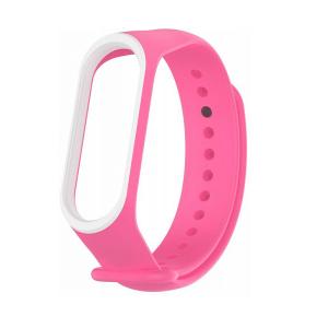 Ремешок для фитнес-браслета Xiaomi Mi Band 3 / 4 – Pink / White
