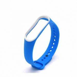Ремешок для фитнес-браслета Xiaomi Mi Band 3 / 4 – Blue / White