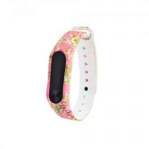 Ремешок для фитнес-браслета Xiaomi Mi Band 3 / 4 – Pink Flowers
