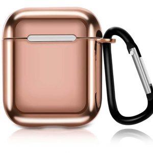 Чехол для наушников Electroplate TPU Cover Case для Apple Airpods – Gold