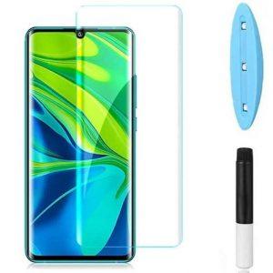 Защитное стекло 3D / 5D UV Full Glue с УФ клеем для Xiaomi Mi Note 10 / 10 Pro / Note 10 Lite – Clear